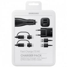 Kit Combo Incarcare Retea + Auto + Cablu Micro USB, Samsung