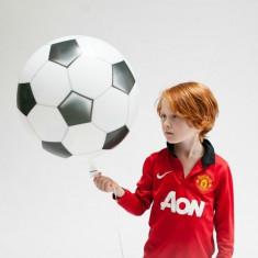 Balon folie Football Ball cu auto-etansare, 46x55 cm, alb negru