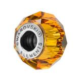 Accesoriu bratara, Charm Swarovski Briolette Topaz + CADOU Laveta profesionala pentru curatat bijuteriile din argint + Cutie Cadou