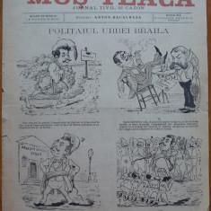 Ziarul Mos Teaca ,jurnal tivil si cazon ,nr. 11 ,an 1 ,1895 , Bacalbasa , Braila