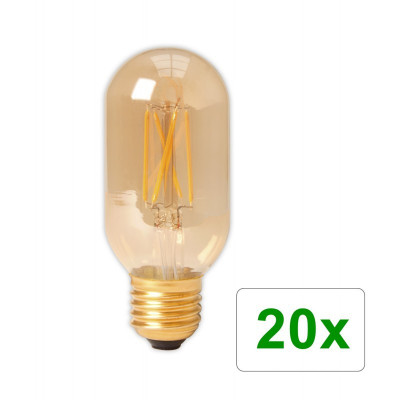 E27 4W 240V Calex LED sticlă cu filament Tubular 3 Set 20 Bucăți foto