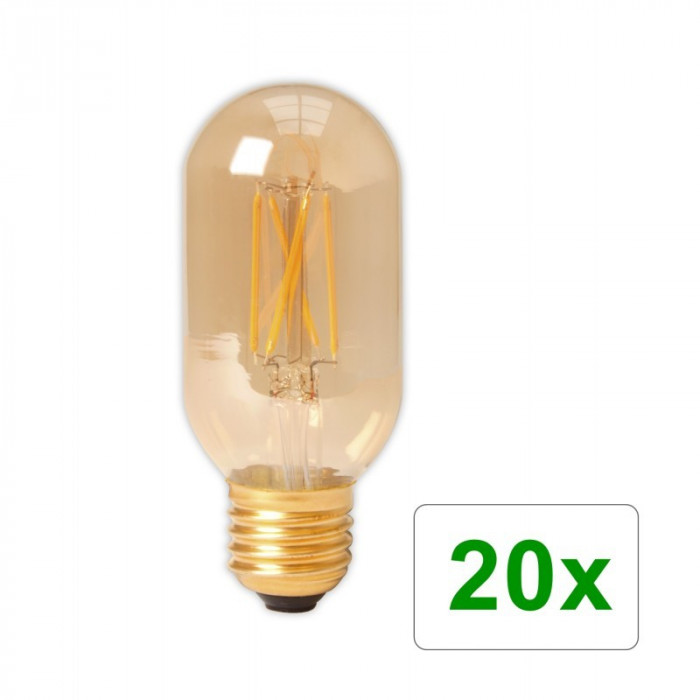 E27 4W 240V Calex LED sticlă cu filament Tubular 3 Set 20 Bucăți