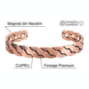 Brăţară Magnetică Terapeutică Energetică CUPRU - cod BRA029
