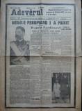 Ziarul Adevarul , editie speciala , 23 Iulie 1927 ; Moartea Regelui Ferdinand