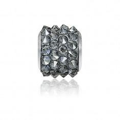 Accesoriu bratara, Charm Swarovski Pave Silver Night + CADOU Laveta profesionala pentru curatat bijuteriile din argint + Cutie Cadou