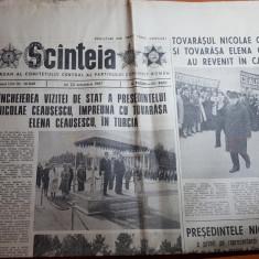 ziarul scanteia 22 octombrie 1987-vizita lui ceausescu in turcia