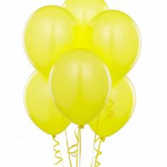 Baloane galbene party, 30 cm, latex, set 100 bucati