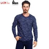 Pijama Barbati Vienetta, Model Chill Atitude, Cod 2193, Albastru, L, M, S, XL