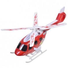 Elicopter de jucarie cu sunete si lumini, rosu/alb, 28x8x10 cm