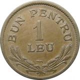 ROMANIA, 1 LEU 1924, POISSY * cod 12.11.18, Cupru-Nichel