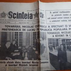 ziarul scanteia 10 iunie 1987-vizita lui ceausescu in polonia