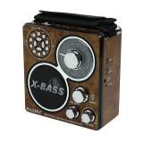 Radio MP3 player, slot SD/TF/USB, 3 benzi frecventa, lanterna, Waxiba