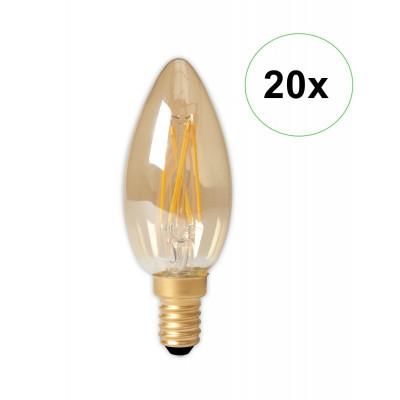 LED Filament E14 240V 3.5W 200lm B35, Gold 2100K D Set 20 Bucăți foto