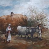 Tablou pictura- peisaj, Peisaje, Ulei, Miniatural