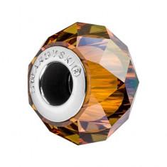 Accesoriu bratara, Charm Swarovski Briolette Copper + CADOU Laveta profesionala pentru curatat bijuteriile din argint + Cutie Cadou