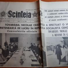 ziarul scanteia 12 mai 1987-vizita lui ceausescu in cehoslovacia