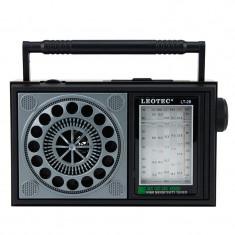 Radio portabil vintage, 3W 8 ohm, 7 benzi FM/MW/SW1-5, Leotec
