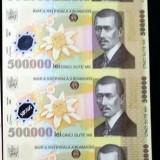 Coala UNC de 4 x 500 000 lei netaiata plus certificat autenticitate  BNR.