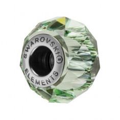 Accesoriu bratara, Charm Swarovski Briolette Chrysolite + CADOU Laveta profesionala pentru curatat bijuteriile din argint + Cutie Cadou