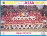(3) FOTOGRAFIE FOTBAL - AC MILAN 1990-1991, FORMAT 20X15 CM