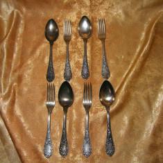 Set tacamuri laminaj argint, Baroc floral, colectie, cadou, vintage