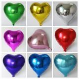 Balon folie inimioara, culori metalizate, petreceri tematice, inaltime 40 cm
