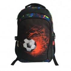 Ghiozdan Fotbal Red, gimnaziu si liceu, 48 cm, bretele reglabile, Daco