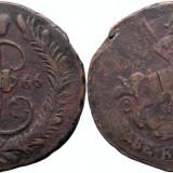 1766 ЕМ (Ekaterinburg), 2 kopecks, Ecaterina a II-a a Rusiei, Europa