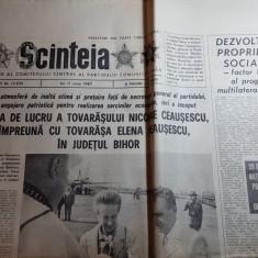 ziarul scanteia 11 iunie 1987- vizita lui ceausescu in judetul bihor