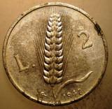 1.140 ITALIA 2 LIRE 1948, Europa, Aluminiu
