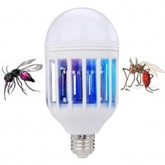 Capcana UV anti insecte 2 in 1, cu bec LED 10W, soclu E27, 50 mp, ABS
