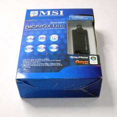 MSI DigiVOX Duo DVB-T USB TV tuner (1094), Extern (necesita PC)