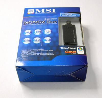 MSI DigiVOX Duo DVB-T USB TV tuner (1094) foto