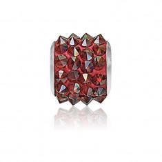 Accesoriu bratara, Charm Swarovski Pave Magma + CADOU Laveta profesionala pentru curatat bijuteriile din argint + Cutie Cadou