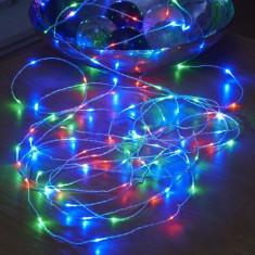 Fir pentru Bobo balon 30 LED-uri multicolore, alimentare baterii, 3 m