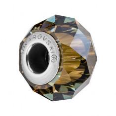 Accesoriu bratara, Charm Swarovski Briolette Bronze + CADOU Laveta profesionala pentru curatat bijuteriile din argint + Cutie Cadou