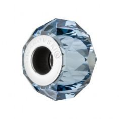 Accesoriu bratara, Charm Swarovski Briolette Denim Blue + CADOU Laveta profesionala pentru curatat bijuteriile din argint + Cutie Cadou