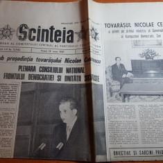 ziarul scanteia 19 iunie 1987-cuvantarea lui ceausescu la plenara