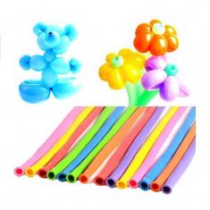 Set 100 baloane colorate pentru modelaj, latex