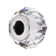 Accesoriu bratara, Charm Swarovski Briolette Crystal + CADOU Laveta profesionala pentru curatat bijuteriile din argint + Cutie Cadou