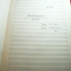 Doru Popovici - Transilvania Cantata- 1983 -Partitura ,21 pag