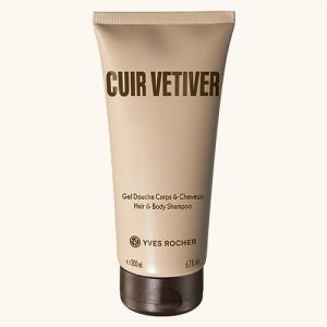 Gel de duș pentru corp și păr CUIR VETIVER