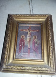 Icoana veche 1948,cu rama si geam sigilata,11,5 cm/9 cm,T.GRATUIT