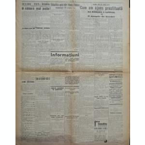 Ziarul Tara ;Tentativa de asasinat legionara a ministr. Angelescu , Beza , 1930