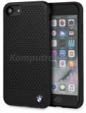Bmw Husa silicon pentru Apple iPhone 7/8 Black perforata