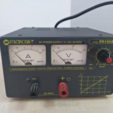 Sursa laborator MICROSET PS105A 0-15V 5A MAX reglabila