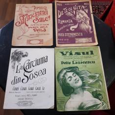 PARTITURI MUZICALE ROMANESTI -INCEPUT DE SECOL XX-LOT DE 4 BUCATI