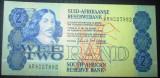 Africa de Sud : 2 rand ND ( 1983-1990) . UNC ( bancnota necirculata )
