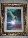 Icoana veche frumoasa,cu rama si geam sigilata,22 cm/18 cm,T.GRATUIT