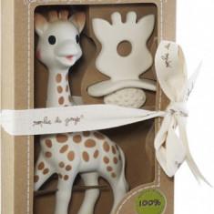"""Set Girafa Sophie si figurina din cauciuc pentru rontait """"So'pure"""""""